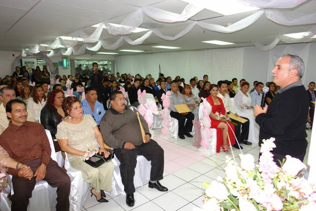 When Plamex started the mass wedding program the city of Tijuana required