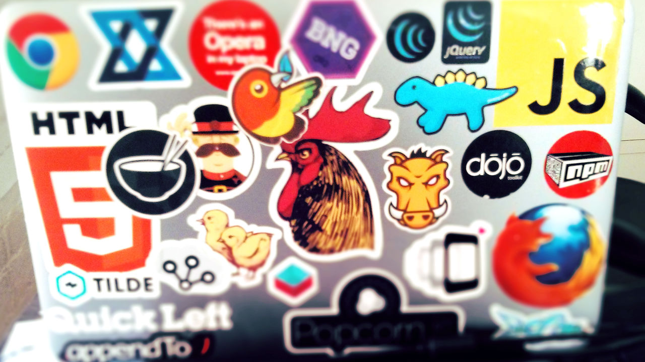 Startup People Have Tons Of Stickers On Their Laptops