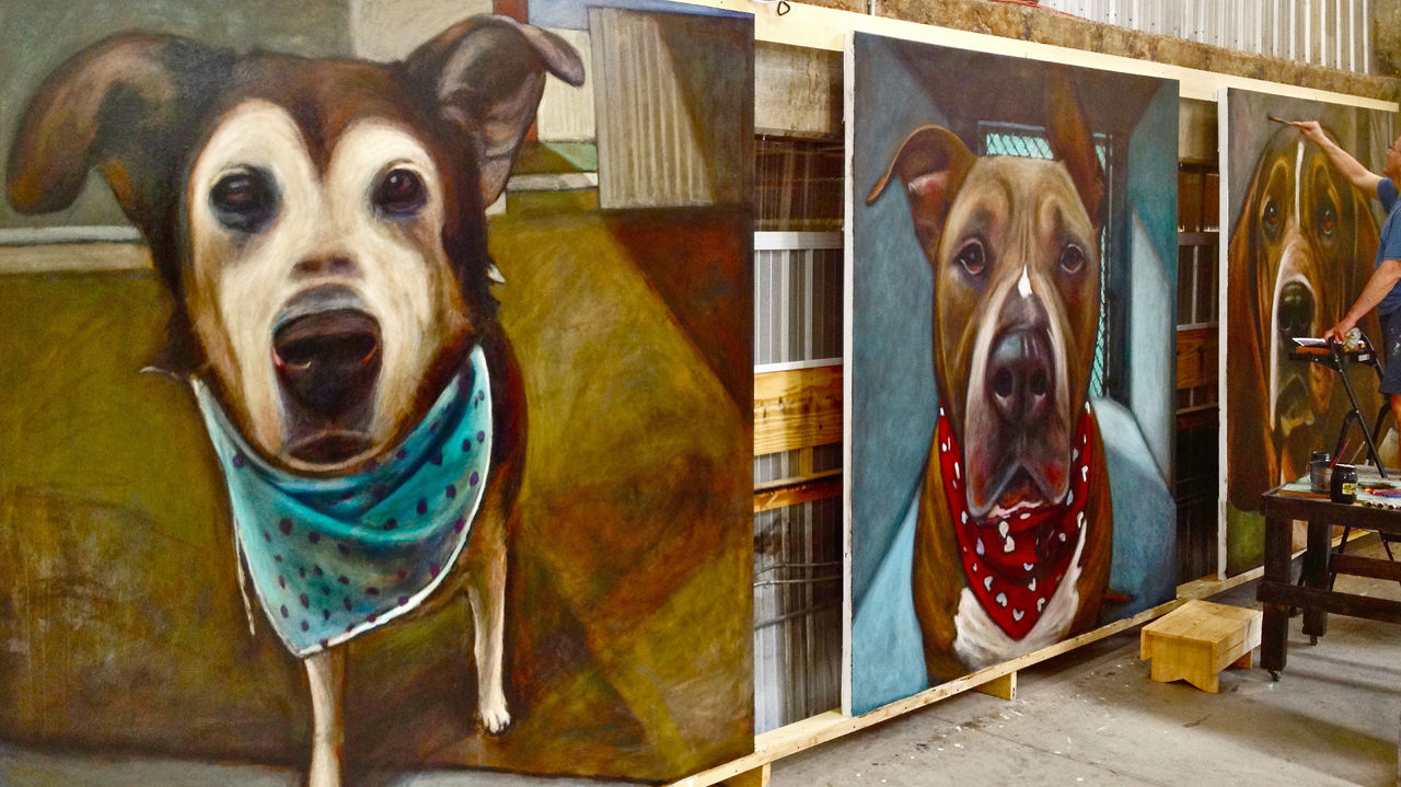An Artist Paints 5,500 Portraits Of Doomed Dogs And Each One Will Break Your Heart