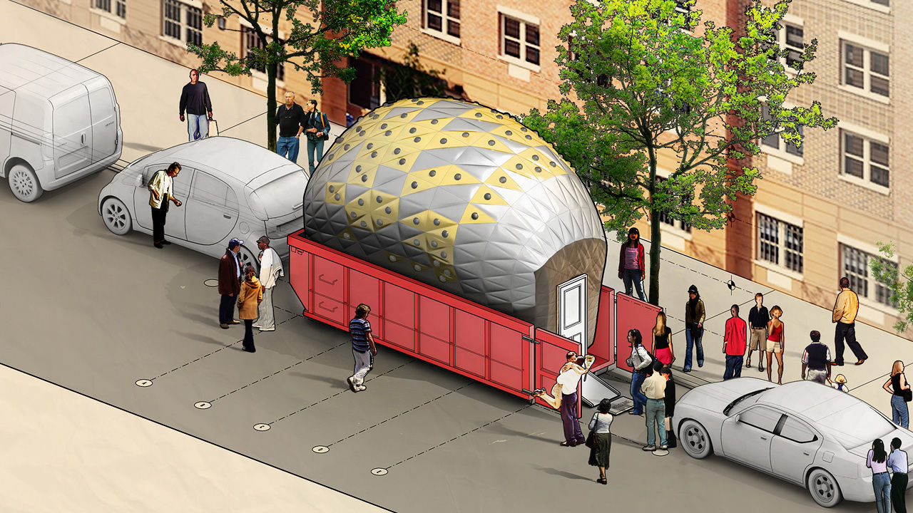 Architect Wants To Reclaim Public Space, One Dumpster At A Time