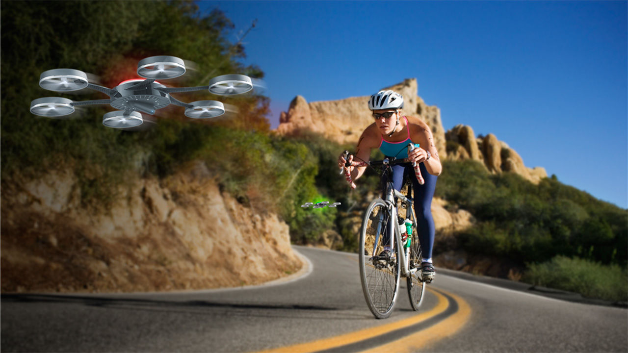For Your Next Bike Ride, Bring Along This Friendly Drone