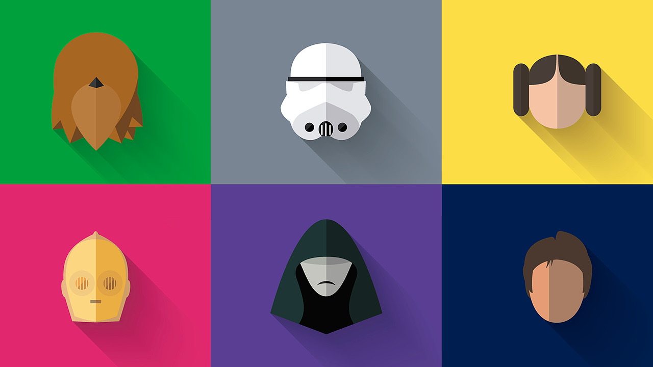Star Wars Characters Smushed Flat