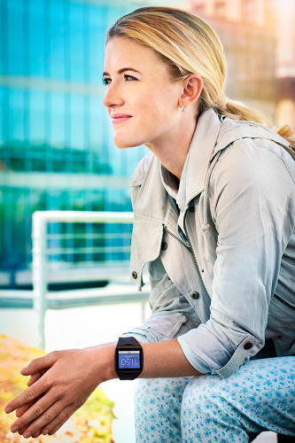 <p>The e-ink-like color display solves a looming issue of battery life that could very well plague smartwatches.</p>