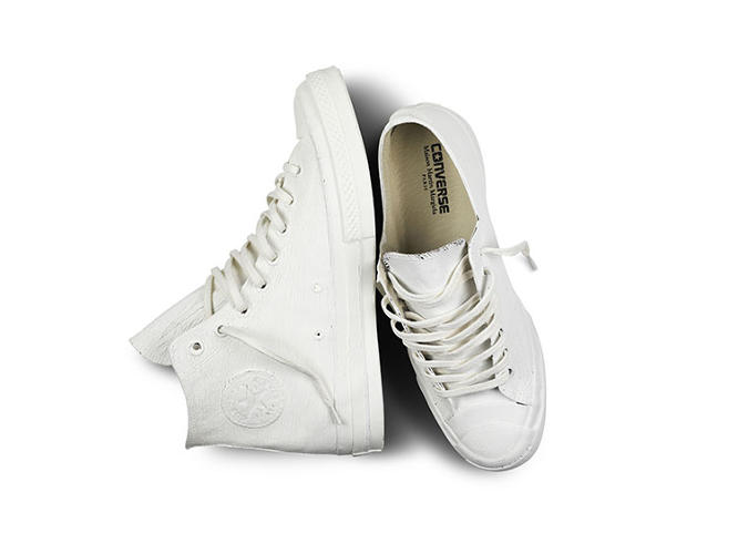 <p>The classic star logo was designed by basketball player Chuck Taylor, whose signature also graces the rubber heel.</p>