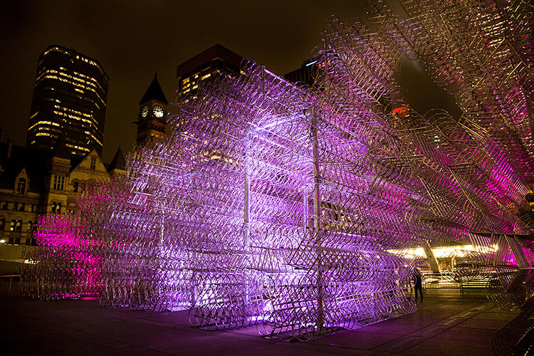 <p>Most recently, Ai made his mark in Toronto, for the city's Nuit Blanche festival.</p>