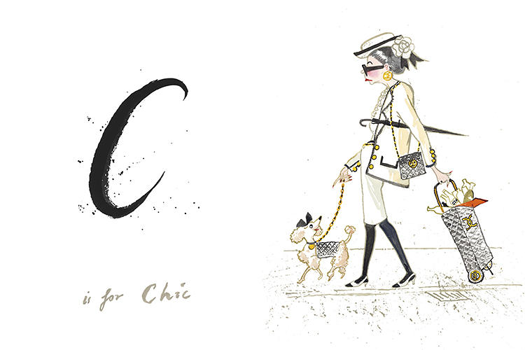 <p>Illustrator Lawrence Mynott tells Co.Design, &quot;The original brief from Tim Walker was quite simply to give me a list of words from A-Z (C is for Chic, etc). It was entirely up to me to interpret each word through a character, which was where the fun began, and that I hope was achieved through wit and affection.&quot;</p>