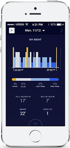 <p>But its graphs are really less interesting than the Aura itself, which doesn't require any quantified-self analysis to give you a better night's sleep.</p>
