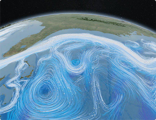 <p>A <a href=&quot;http://youtu.be/ujBi9Ba8hqs&quot; target=&quot;_blank&quot;>video</a> from NASA uses satellite data and computational models to visualize the swirling circulation of the winds and oceans on Earth, and showing how different parts of the climate system interact.</p>