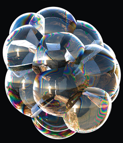 <p>Researchers are studying the complicated physics of popping soap bubbles, in hopes of modeling foam behavior with supercomputers. Oh, to play with bubbles for a living.</p>