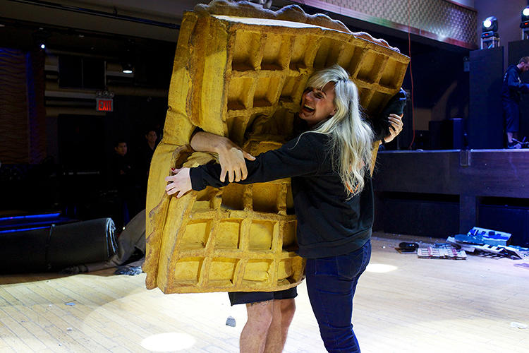 <p>The Awful Waffle, an infamous live monster wrestler.</p>