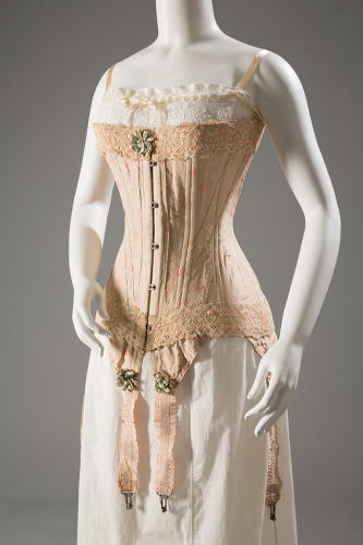 <p>In response to such outrage, women got more choices. Designers developed more flexible stays, as seen in this corset, from circa 1905, England.</p>