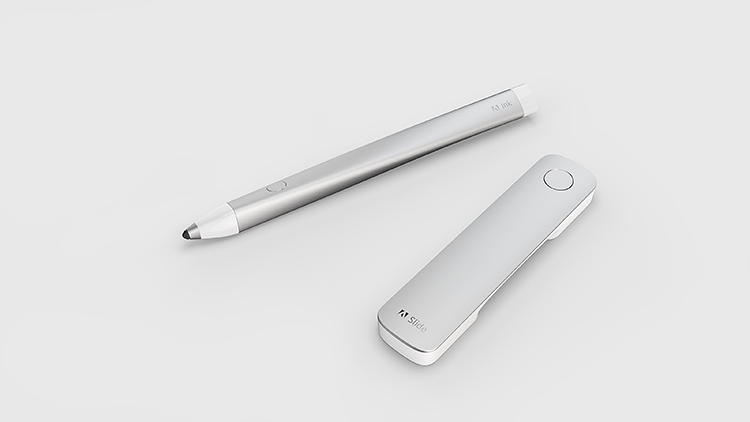 <p>This is Adobe's new iPad hardware, Ink (the pen) and Slide (the ruler).</p>