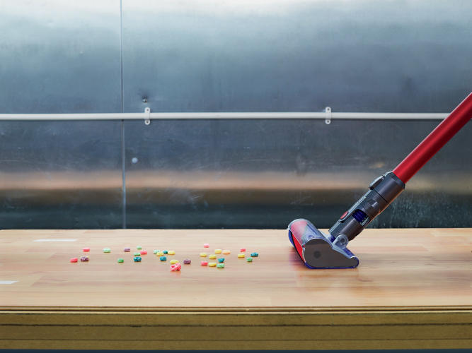 <p><em>Fast Company</em> received an unprecedented tour of Dyson's R&amp;D facilities. Here, the V6 Absolute, attached to a robotic arm capable of swinging a vacuum back and forth for days on end, is tested for stress points and suction volume.</p>
