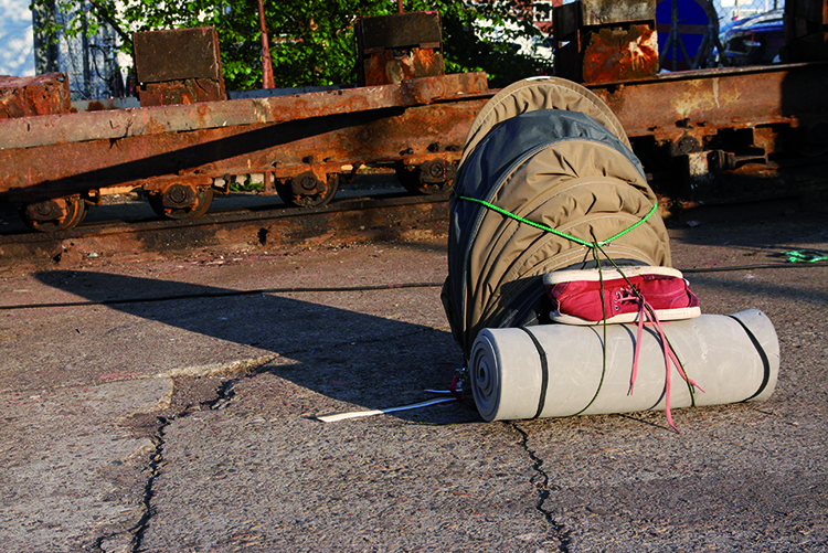 Urban Rough Sleeper, tent backpack